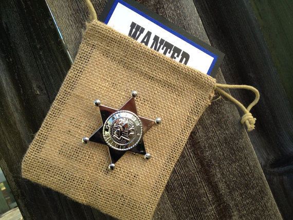 Wedding - Ring Bearer Invitation, Will You Be My Ring Bearer, Sheriff's Badge, Ring Security, Police Invitation, Western Invitation, WANTED