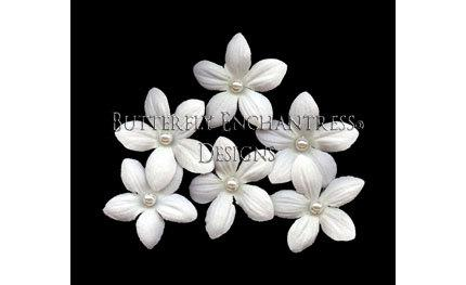 Mariage - Bridal Hair Accessories, Bridal Hair Flowers, Wedding Hair Pins - 6 Pearl Pale Ivory Stephanotis Bridal Hair Pins