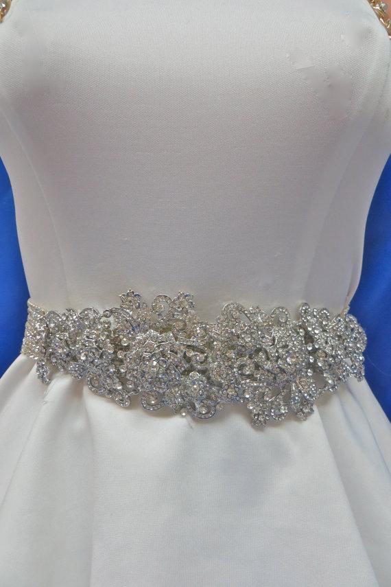 زفاف - Rhinestone Bridal Sash, Wedding Gown Accessory, Bridal Crystal Sash,  Bridal Wedding  Belt, Bridal Gown Belt