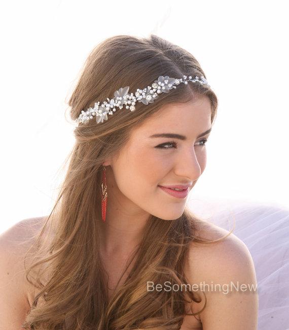 Pearl And Rhinestone Wedding Hair Vine Bridal Hair Accessories ... e202ef8ac4b