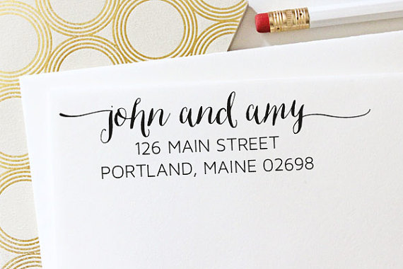 زفاف - Address Stamp - Self Inking Address Stamp - Engagement Gift - Wedding Gift - Housewarming Gift