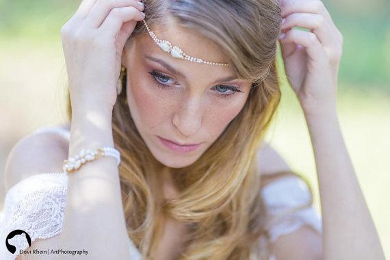 Wedding - bridal Hair accessories, wedding bridal forehead band, wedding bridal tiara ,Wedding Hair Accessories , Brides Headpieces,  Wedding Headban