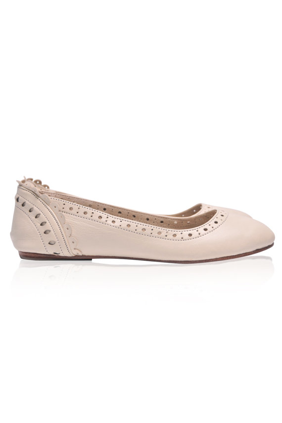Wedding - ULUWATU. Bridal shoes / leather flats / wedding shoes / leather shoes / womens shoes / ballet flats. Available in different leather colors.
