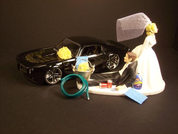 AUTO CAR Wash 1972 Pontiac Firebird Black Bride And Groom Funny ...
