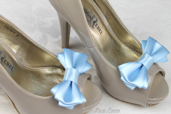 Something Blue Shoe Clips Light Bow Clip Wedding Accessories Shoes