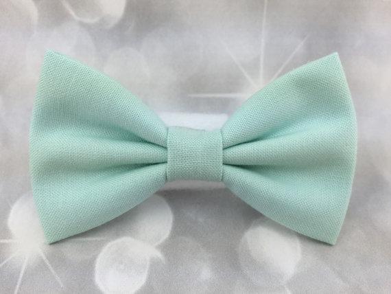 Свадьба - Cool Mint Small Pet Dog Cat Bow / Bow Tie