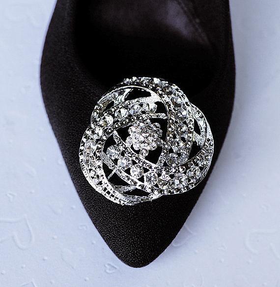 Mariage - Bridal Shoe Clips Crystal Rhinestone Shoe Clips Wedding Party (Set of 2) SC031LX