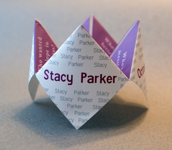 Wedding Favor Cootie Catcher Birthday Invitation