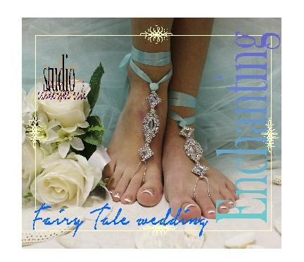 Wedding - ENCHANTED BRIDE Bridal Barefoot sandals, bridal beach wedding, beautiful barefoot sandals