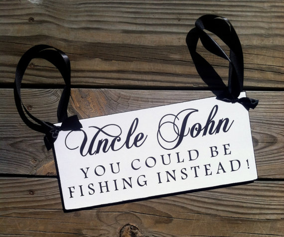 زفاف - Wedding Sign,  Could Be Fishing, Wedding and photo props, Single Sided 12in, ring bearer sign