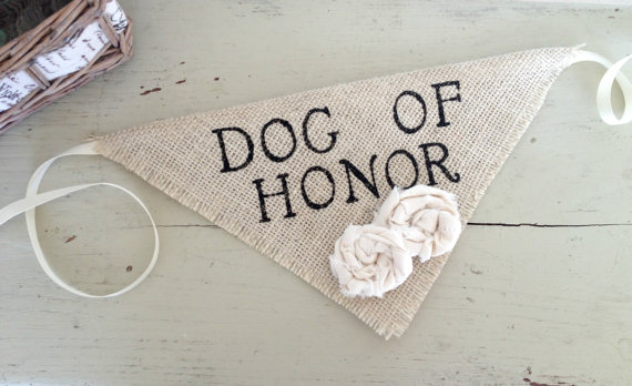 زفاف - Dog Bandana Dog of Honor Wedding Collar Girl Flowers