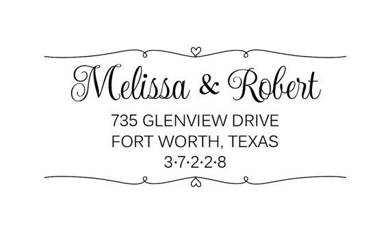 return address stamp wedding invitation stamp calligraphy stamp save