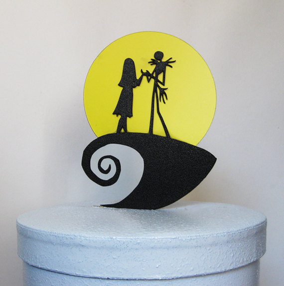 Wedding Cake Topper The Nightmare Before Christmas Jack And Sally