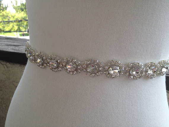 زفاف - Free Gift ,Silver Wedding Belt Sash,Bridal Sash,Best seller sash ,Rhinestone Crystal Sash,Swarovski beaded sash,Silver Sash