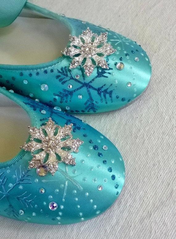 Tiffany Blue Shoes Tiffany Blue Flats Something Blue Flats Snowflakes Shoes Winter