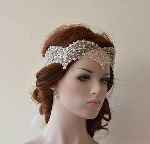 Wedding Lace Headband Hair Accessory Bridal Vintage Style Accessories