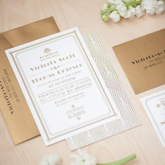 art deco wedding invitation 1920 s invitation roaring 20 s