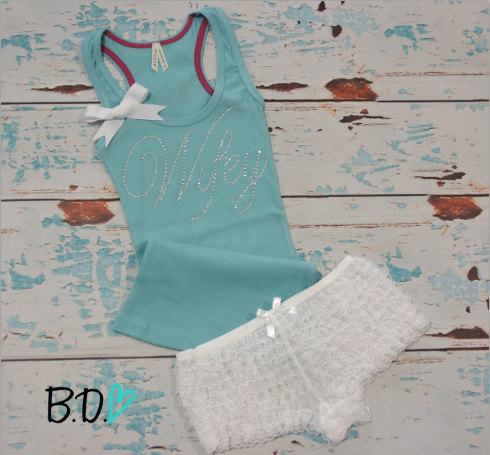 Lace Bride Tank Top