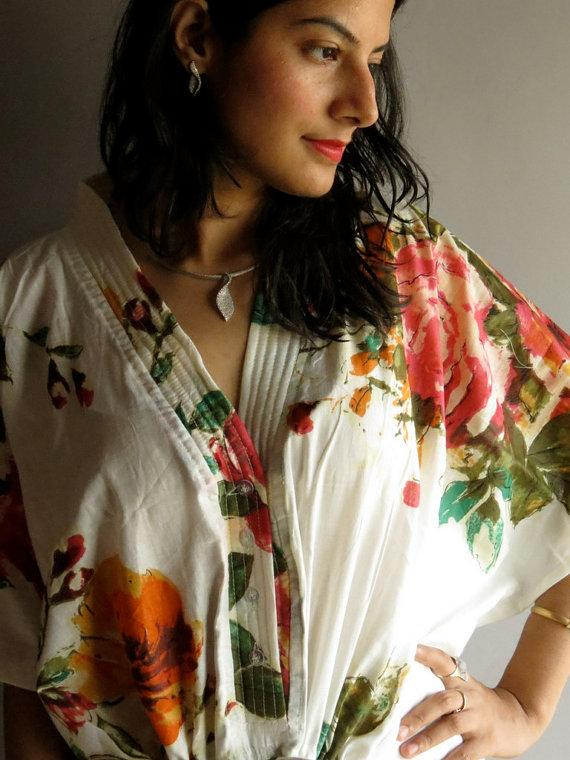 Wedding - White Nursing Maternity Hosptial Gown Delivery Kaftan - Perfect as loungewear, as getting ready, as beachwear, gift for moms and to be moms