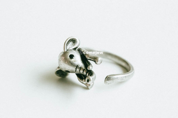 Wedding - Vintage burnished elephant ring ,animal ring,adjustable rings,cute ring,cool ring,couple ring,mens rings,unique ring,bridesmaid gift,skd482