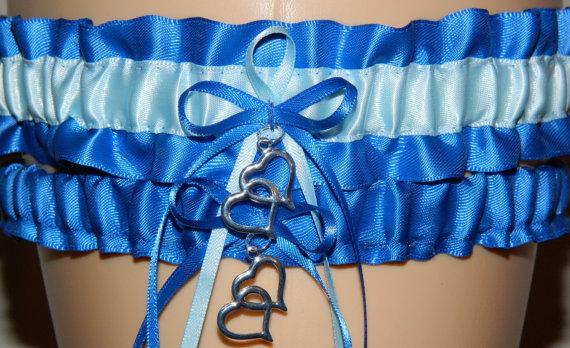 Wedding - Royal Blue and Blue Garter -Custom Colored Garters for Wedding Garter, Bridal Gifts and Prom Garter