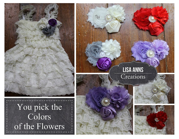 Hochzeit - Ivory Lace Flower Girl Dress Rustic Girls Dress Vintage lace dress Bridesmaid lace dress Christening dress Baptism dress Shabby Chic Wedding