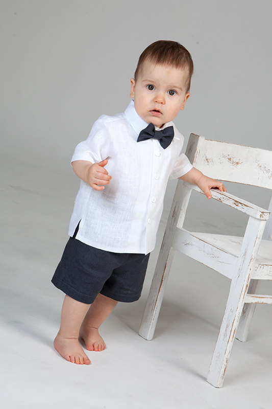 Baby Boy Wedding Ring Bearer Outfit Boy Linen Suit Baptism Natural ...