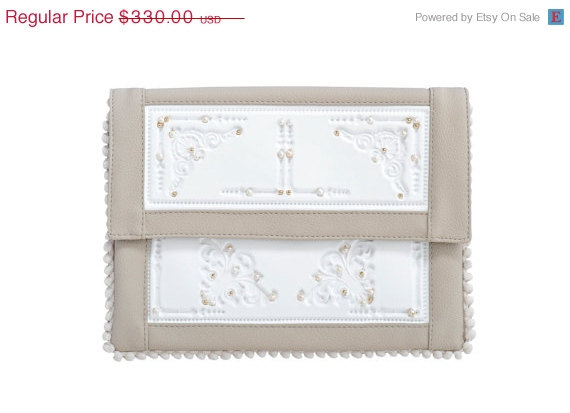 Love 20 Off Gorgeous White Clutch Purse For Wedding Day Premium And Beige Envelope With Pearls Gold Filled Beads A