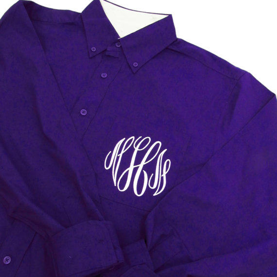 Wedding - Monogrammed Oversized Shirt - Oversized Bride Shirt - Oversized Bridesmaid Shirts - Monogrammed Night Shirt