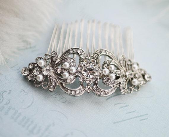 "Mariage - Vintage Style Bridal Hair Comb, Vintage Wedding Hair comb, Wedding Haircomb, Vintage Wedding Hair Accessory, Rustic Wedding  - ""JULIET"""