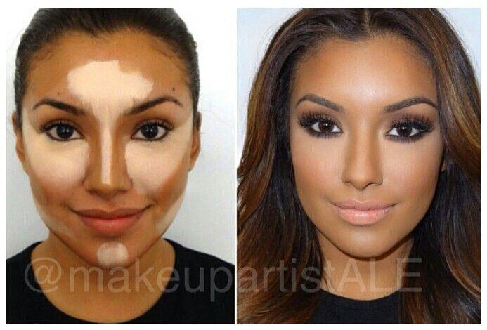 Как сделать рельефное лицо макияж - Усадьба
