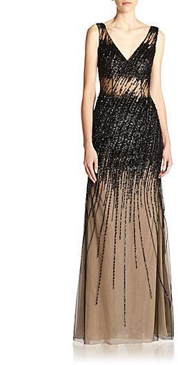 77bb95db46b Black Wedding - Basix Black Label Beaded Gown  2230367 - Weddbook