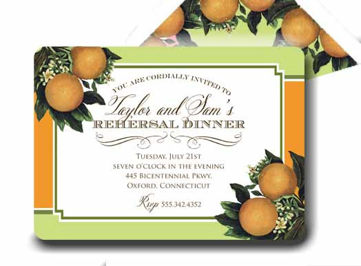 Hochzeit - Invitation . Citrus Sweet Collection . by Loralee Lewis