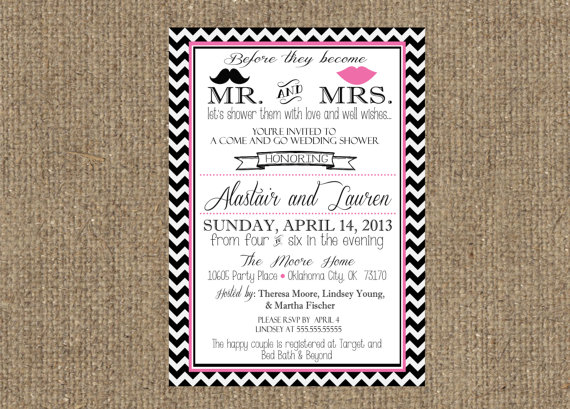 Свадьба - 5x7 Couples Wedding Shower Invitation - Front only