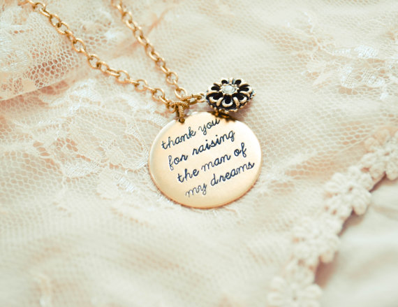 Mother Of The Groom Gift: Thank You For Raising The Man Of My Dreams With Charm