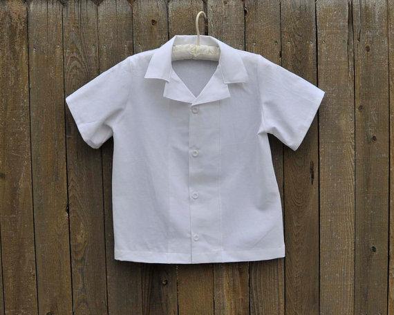Boys White Linen Shirt Ring Bearer Clothes Beach Wedding Photos Graduations6m 10 Yrs