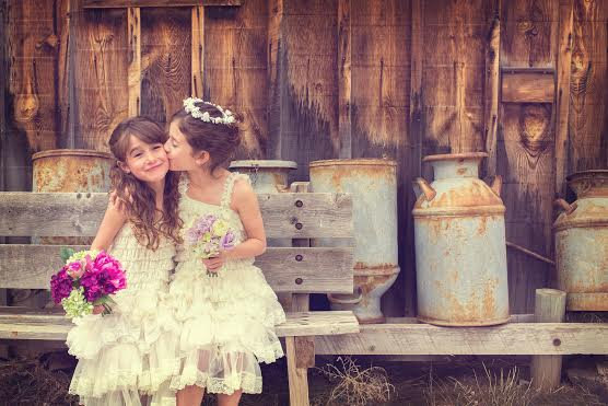 Wedding - Flower Girl Dress-Girls 3 Tier Ivory Lace Party Dress-Birthday, Weddings or Any Special Occasion-Small-4XL