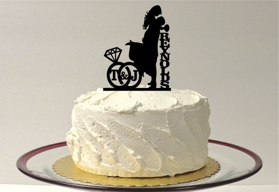 Wedding Ring Cake Toppers personalized wedding cake topper with