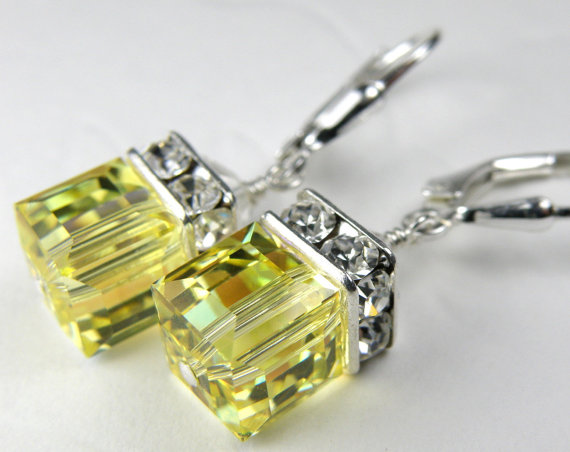 citrine earrings david yurman chatelaine sterling diamond bezel silver lemon