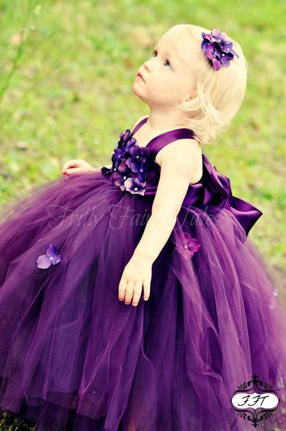 Eggplant / Plum Flower Girl Dress Tutu Dress Newborn-24m 2t2t4t5t 6 Birthday #2230676 ...