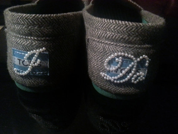Mariage - I Do Shoe Stickers Clear / Blue Rhinestone. Ivory Pearls. I Do Wedding Shoe Appliques - I Do Shoe Decals. Cute on Toms Shoes