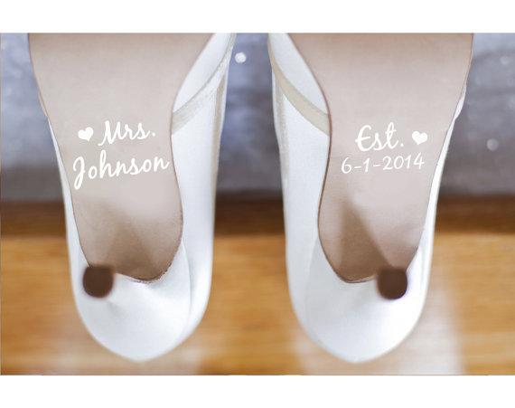 Mariage - Wedding Shoe Decals Shoe Decals for Wedding