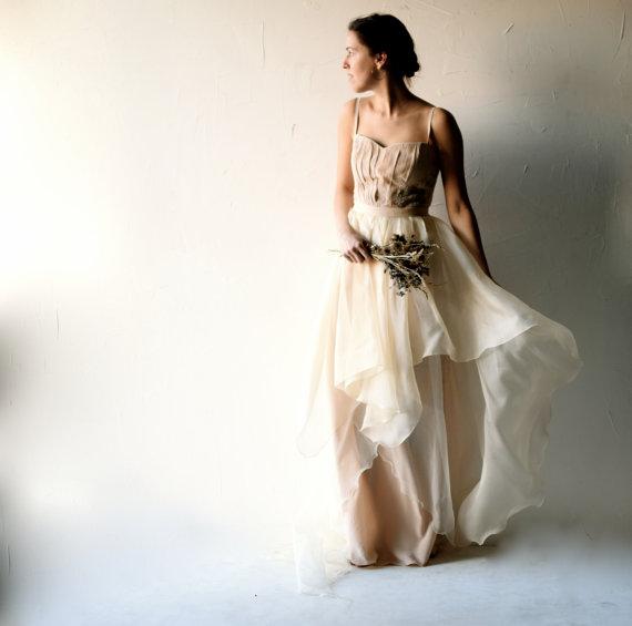 Wedding dress bohemian wedding dress blush wedding dress for Romantic bohemian wedding dresses
