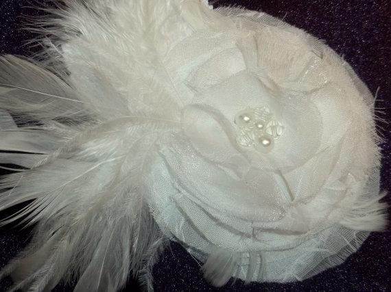 3c4bd40ee08d7 Wedding White Chiffon Bridal Fascinator