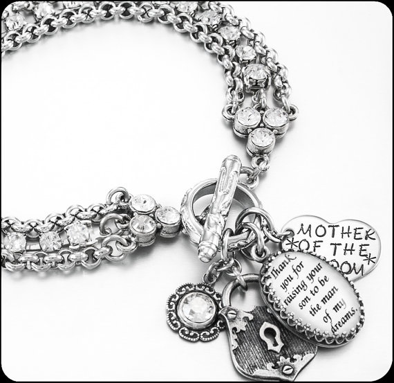 Mother Of The Groom Bracelet Wedding Gift For In Law S Bridal Jewelry