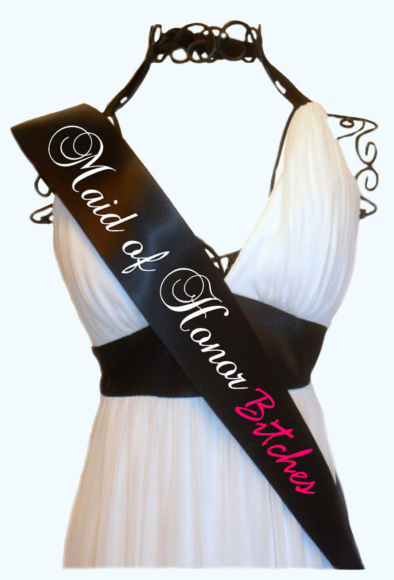 Свадьба - Maid of Honor Bridal Party Sash