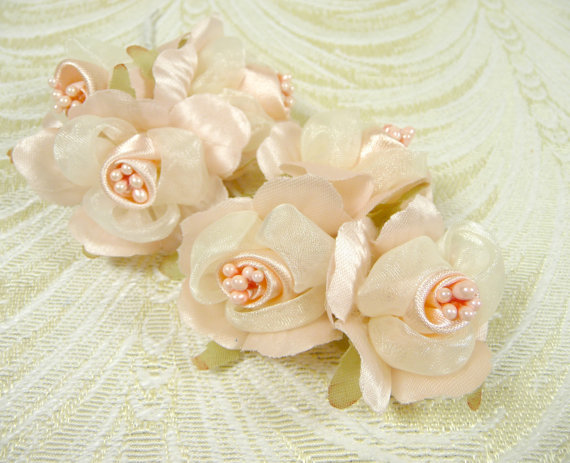 2 bunches blush seashell peach pink silk rose buds 6 millinery 2 bunches blush seashell peach pink silk rose buds 6 millinery flowers for weddings crafts hair clips head bands boutonnieres vintage style mightylinksfo