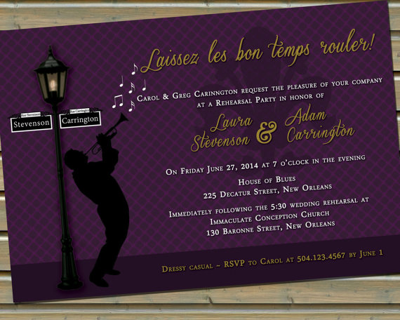 New orleans jazz fleur de lis invitation with envelopes 2230889 new orleans jazz fleur de lis invitation with envelopes stopboris Image collections
