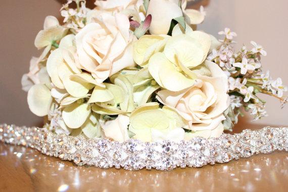 Mariage - Bridal Rhinestone Wedding Gown Sash Belt