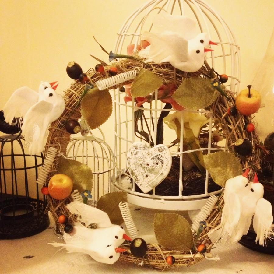 Свадьба - Diy birdy  Wreath